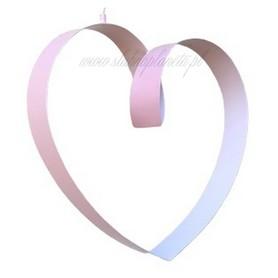 Serce metalowe 3D 60x69 cm