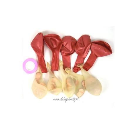 Balony z konfetti różowe złoto 10 szt. (2)