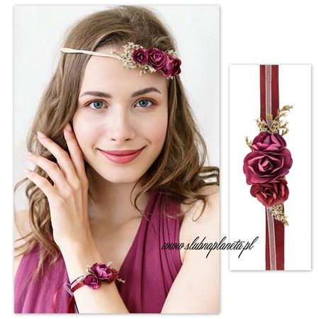 Korsarz kwiatowy bordo (1)