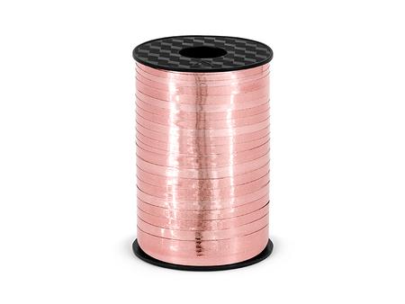 Wstążka metalizowana różowe złoto 5mm x 225m (1)