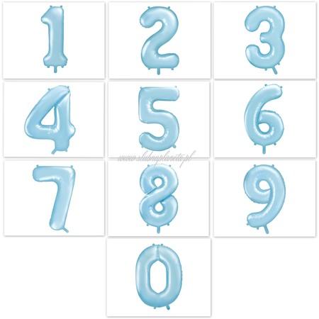 Balon foliowy cyfra niebieska 85 cm (1)