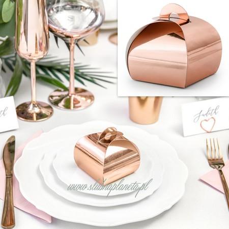 Pudełeczka różowe złoto Bombka (1)