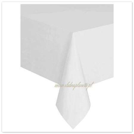 Obrus biały foliowy 137x274 cm (1)
